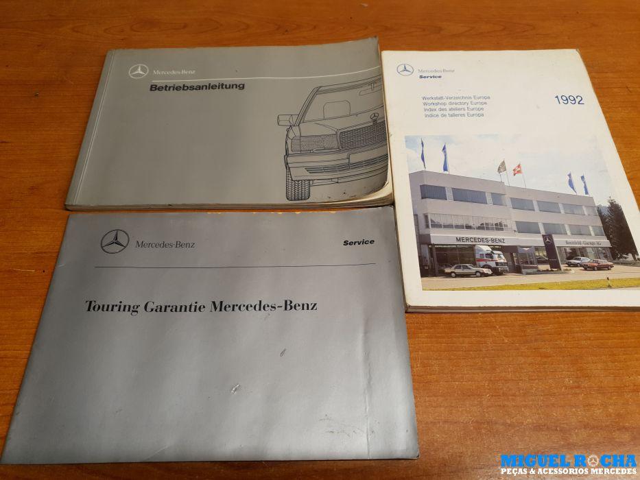 Conjunto de manuais em Alemão Mercedes 190 ( W201 )