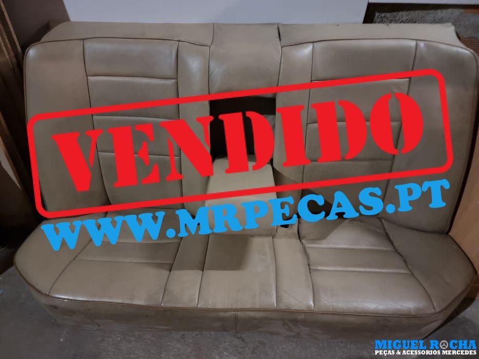 Conjunto de bancos e forras em pele Bege Mercedes W124